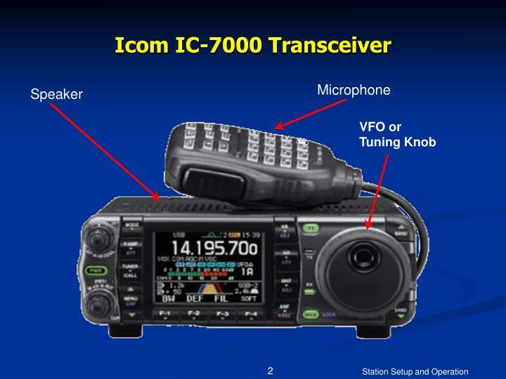 Icom ic 7000 transceiver