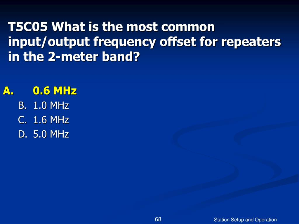 T5C05 What is the most common input/output frequency offset for repeaters in the 2-meter band?