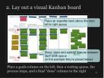 2 lay out a visual kanban board