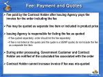 fee payment and quotes