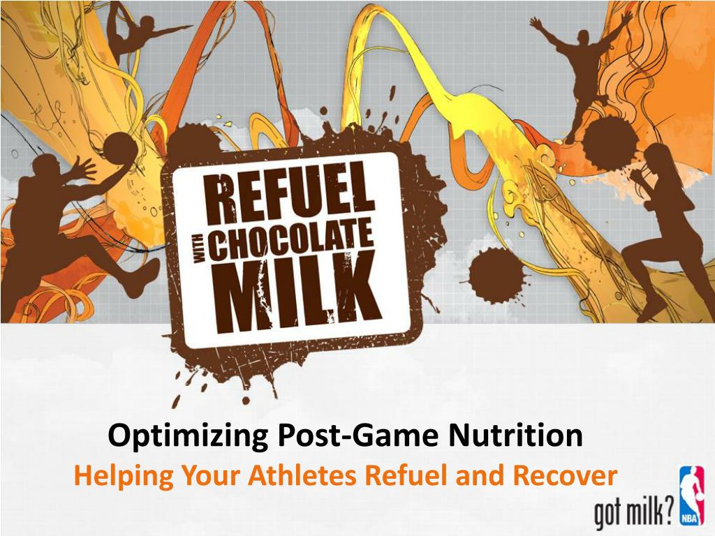 optimizing post game nutrition l.