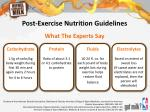 post exercise nutrition guidelines