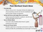 post workout snack ideas