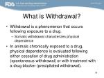 what is withdrawal