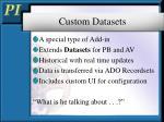 custom datasets