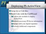 deploying pi activeview