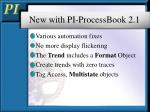 new with pi processbook 2 1