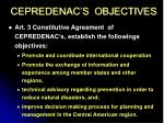 cepredenac s objectives