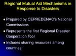 regional mutual aid mechanisms in response to disasters