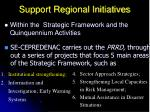 support regional initiatives