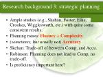 research background 3 strategic planning