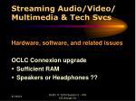 streaming audio video multimedia tech svcs