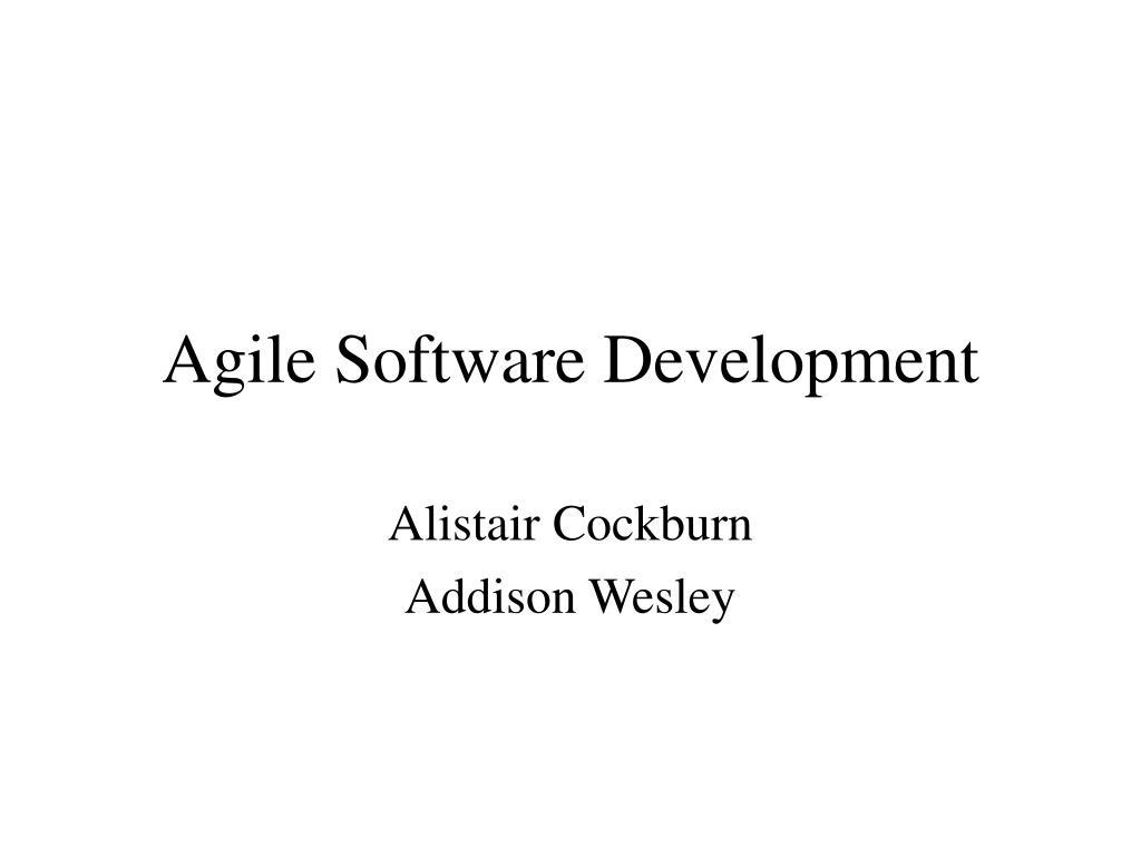 agile software development l.