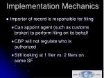 implementation mechanics