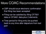 more coac recommendations