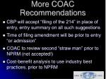 more coac recommendations14