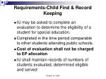 requirements child find record keeping