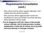 requirements consultation cont