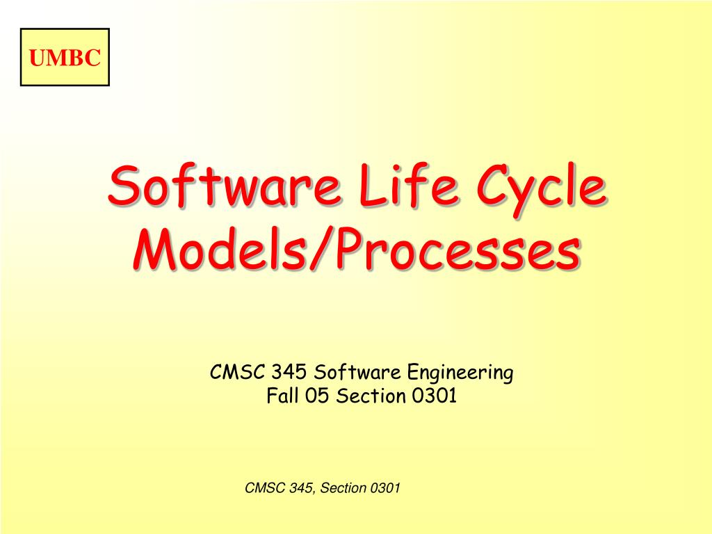 software life cycle models processes l.