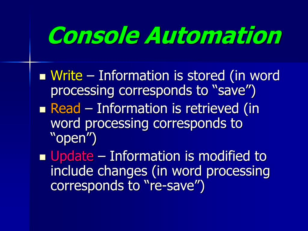 Console Automation