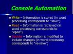 console automation28