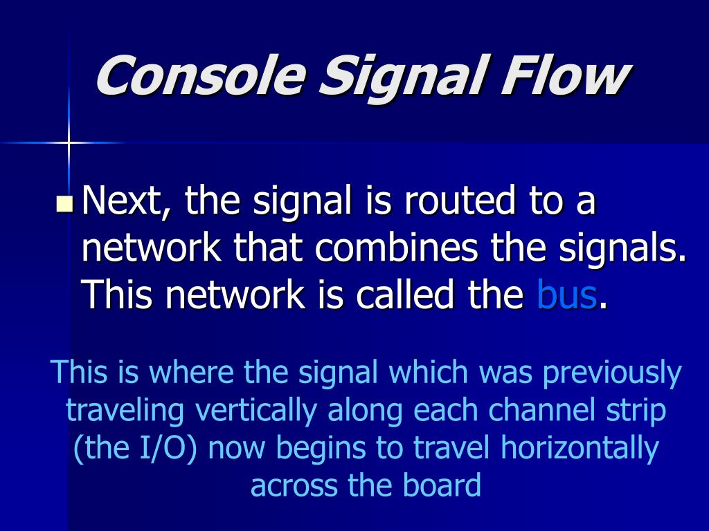 Console Signal Flow