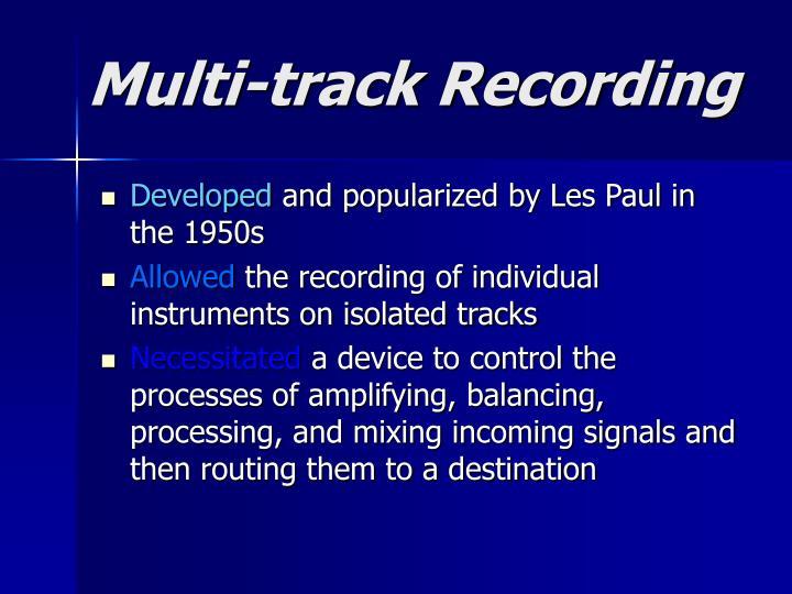 Multi track recording