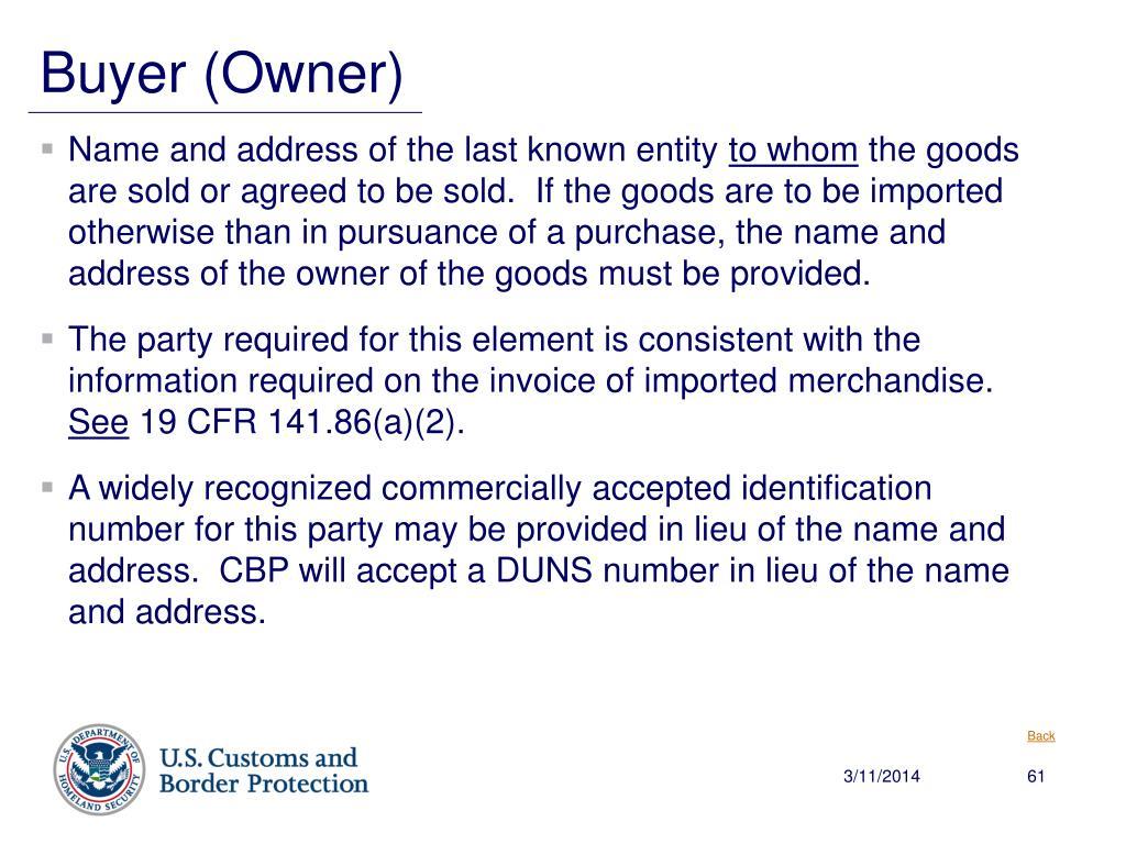 Buyer (Owner)