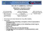 misleading or deceptive conduct statutory misrepresentation