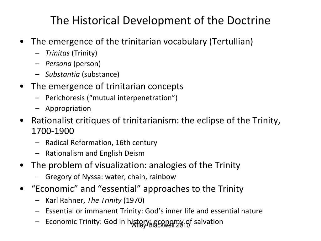 The Historical Development of the Doctrine