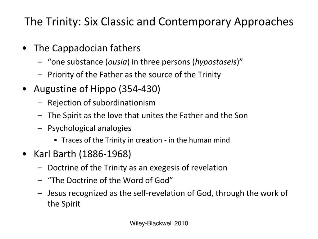 The Trinity: Six Classic and Contemporary Approaches
