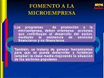 fomento a la microempresa