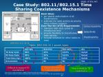 case study 802 11 802 15 1 time sharing coexistence mechanisms