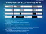 limitations of 802 16e sleep mode