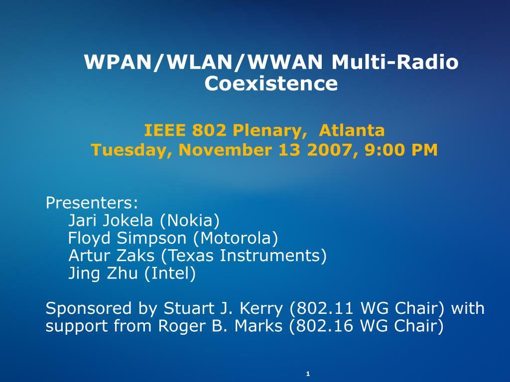 wpan wlan wwan multi radio coexistence l.