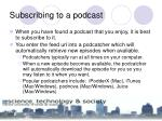 subscribing to a podcast
