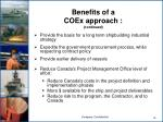 benefits of a coex approach continued