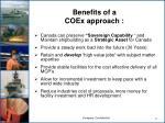benefits of a coex approach