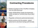 contracting procedures