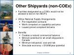 other shipyards non coex