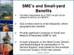 sme s and small yard benefits
