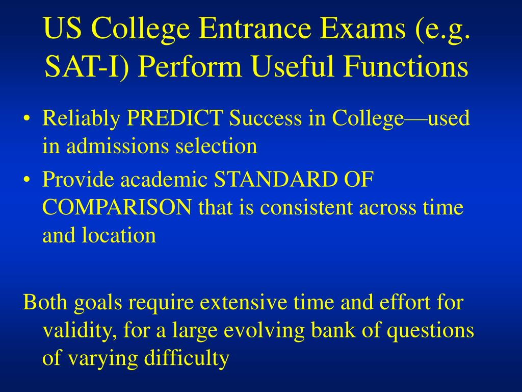 us college entrance exams e g sat i perform useful functions l.