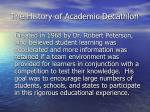 the history of academic decathlon
