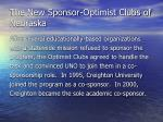 the new sponsor optimist clubs of nebraska