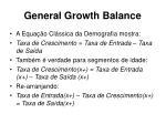 general growth balance