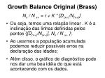 growth balance original brass20
