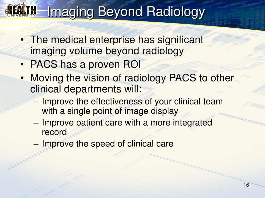 Imaging Beyond Radiology