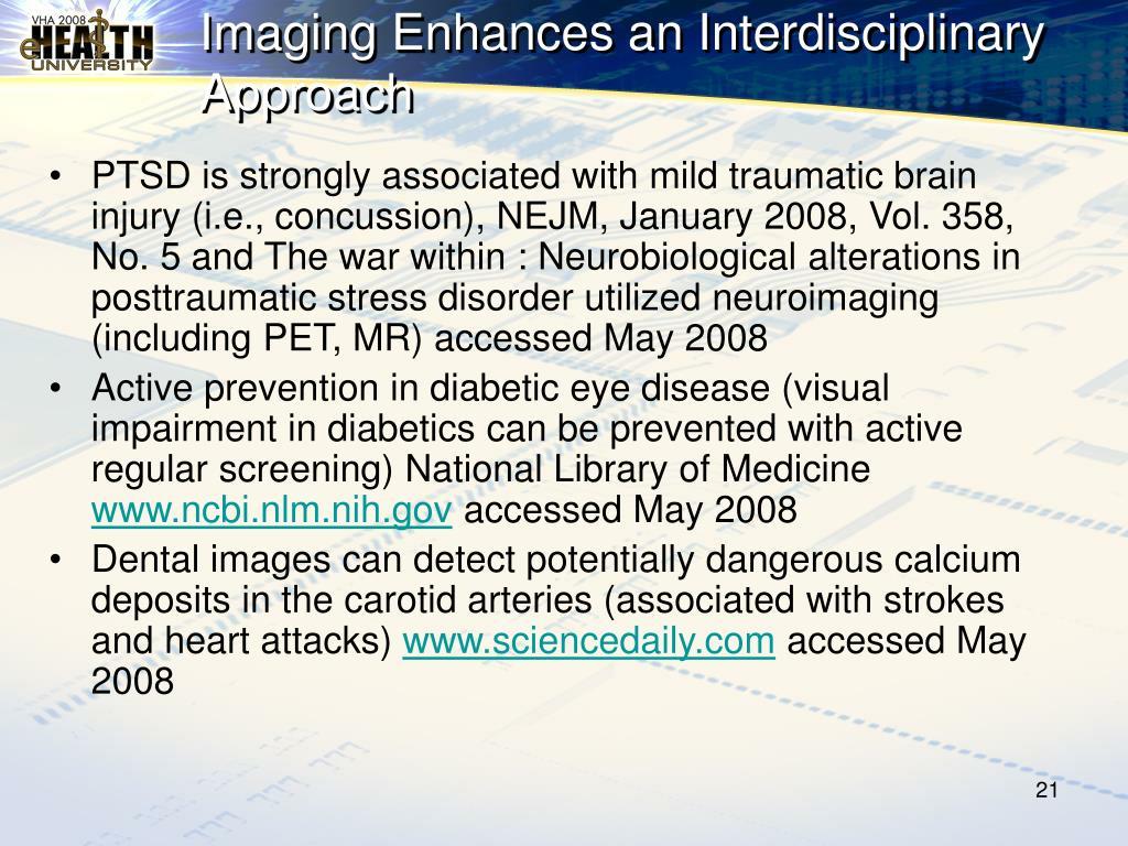 Imaging Enhances an Interdisciplinary Approach