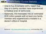 patient safety current statistics