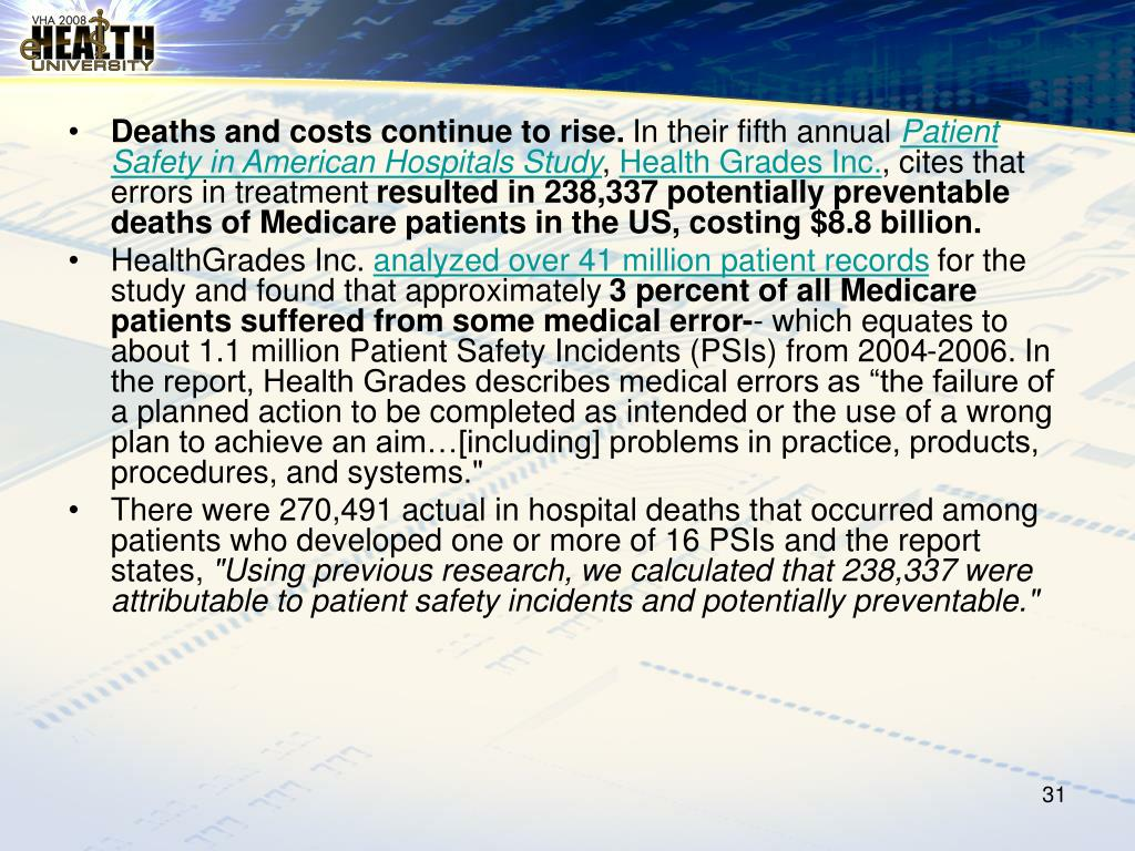 Deaths and costs continue to rise.